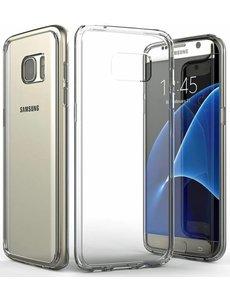 Merkloos Ultra dunne transparent tpu case hoesje met side grip bumper voor Samsung Galaxy S7 Edge