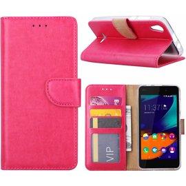 Ntech Ntech Wiko Lenny 4 Portemonnee hoesje / book case Pink
