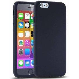 Merkloos iPhone 6 Plus - TPU Back Case Hoesje Siliconen Zwart