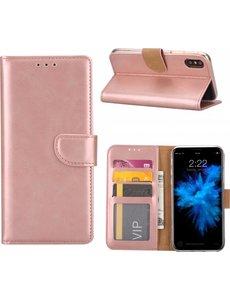 Merkloos iPhone 6 Plus / 6S Plus Portemonnee hoesje / booktype case Rose Goud