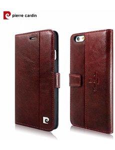 Pierre Cardin Pierre Cardin Paris Classic Echt Leer wallet boek case hoesje voor iPhone 6 Plus / 6S Plus (5.5 inch) Rood