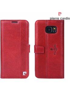 Pierre Cardin Pierre Cardin Samsung Galaxy S7 Edge hoesje rood leer
