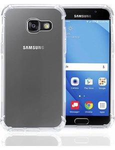 Merkloos Shock Proof (Drop Cushion) Case met TPU Soft Frame hoesje voor Samsung Galaxy A3 2017 Transparant Doorzichtig