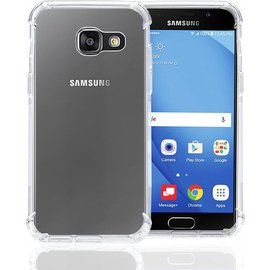 Merkloos Shock Proof (Drop Cushion) Case met TPU Soft Frame hoesje voor Samsung Galaxy A3 2017   Transparant Doorzichtig