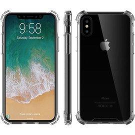 Ntech Shock Proof case met TPU Soft Frame hoesje voor iPhone X / Xs - Transparant Doorzichtig