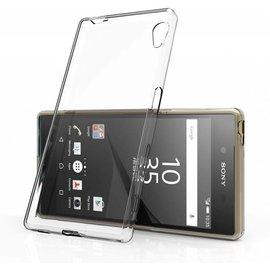 Merkloos Sony Xperia M4 Aqua Ultra Thin Slim Crystal Clear soft Transparant Back Cover hoesje