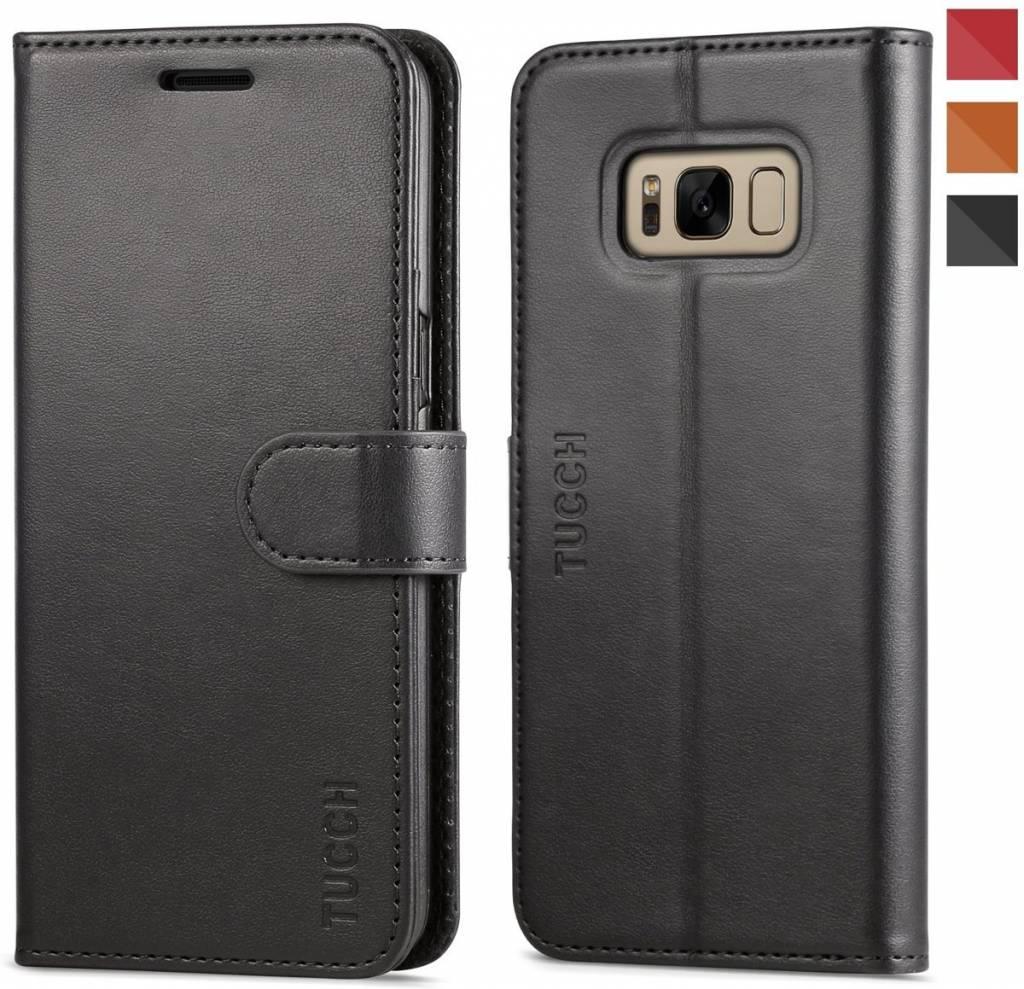71b0ed02a9e Tucch Tucch Samsung Galaxy S8 Plus - Lederen TPU Wallet Case Zwart -  Portemonee Hoesje ...
