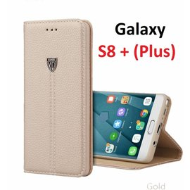 Xundd XUNDD Samsung Galaxy S8+ (Plus)  Portemnnee Hoesje Slim Fit PU leather case Noble met stand Champagne Goud