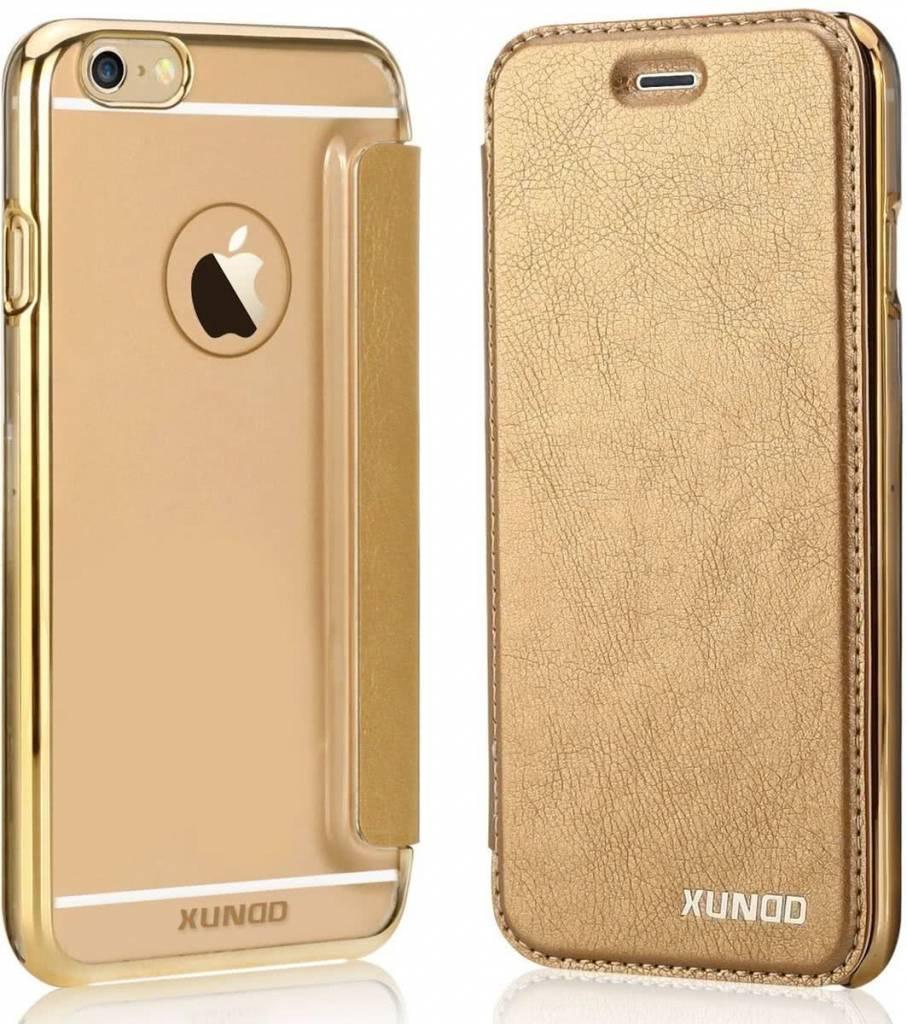 the best attitude 34c53 09e74 Xundd XUNDD iPhone 6 / iPhone 6S (4,7 inch) Flip Case met transparent Back  Cover Goud