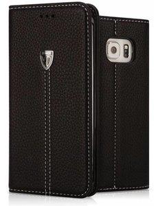 Xundd XUNDD Noble Slim Fit PU leather wallet Case Hoesje met stand voor Samsung Galaxy S7 Edge - Zwart