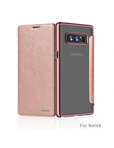 Xundd Xundd Samsung Galaxy Note 8 Rose Goud slim Crystal Folio Flip hoesje / book case
