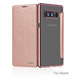 Xundd Xundd Galaxy Note 8 Rose Goud slim Crystal Folio Flip hoesje / book case
