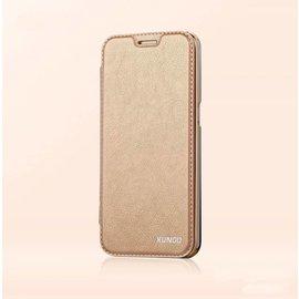 Xundd Xundd Galaxy S7 Edge PU leather flip folio hoesje met transparant back cover Goud