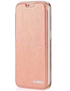 Xundd Xundd Samsung Galaxy S7 Edge flip hoesje met transparant backcover Rose Goud