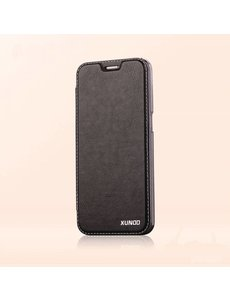 Xundd Xundd Samsung Galaxy S7 Edge PU leather flip folio hoesje met transparant backcover Zwart