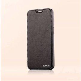 Xundd Xundd Galaxy S7 Edge PU leather flip folio hoesje met transparant back cover Zwart