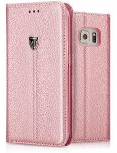 Xundd Xundd Portemnnee Hoesje Slim Fit PU leather case met stand Noble voor Samsung Galaxy S8 Rose Goud