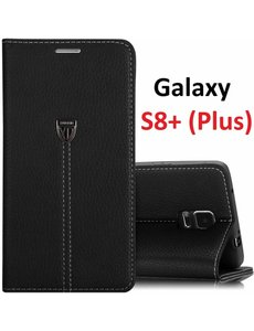 Xundd Xundd Samsung Galaxy S8+ (Plus) Portemnnee Hoesje Slim Fit PU leather case noble met stand Zwart