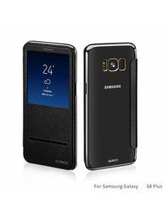 Xundd Xundd Samsung Galaxy S8+ (Plus) window view folio flip cover (slide to answer) hoesje Zwart
