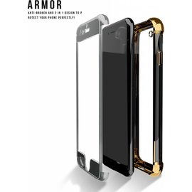 Xundd Xundd iPhone 8 Plus / 7 Plus Full Protection Armor Shockproof 2 in 1Bumper Case Champagne Goud