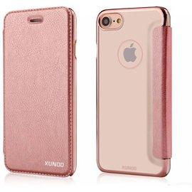 Xundd Xundd iPhone 8 / iPhone 7 ( 4.7 inch ) Roze Goud Slim Crystal Folio Flip Hoesje / Book Case
