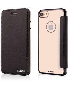 Xundd Xundd iPhone 8 / iPhone 7 ( 4.7 inch ) Zwart Slim Crystal Folio Flip Hoesje Book Case