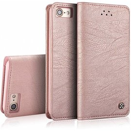 Xundd Xundd iPhone 8+ ( Plus ) / iPhone 7+ ( Plus ) 5.5 inch Ultra Soft Portemonnee Hoesje Book Case Met Pasjes Rose Goud