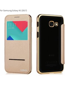 Xundd Xundd Peik Window View Flip Hoesje Samsung Galaxy A5 2017 Champagne Goud