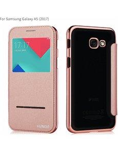 Xundd Xundd Peik Window View Flip Hoesje Samsung Galaxy A5 2017 Rose Goud