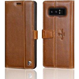 Xundd Beschermhoes Samsung Galaxy Note 8 Hoesje Pierre Cardin Licht Bruin Leer