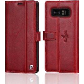 Xundd Beschermhoes Samsung Galaxy Note 8 Hoesje Pierre Cardin Rood Leer
