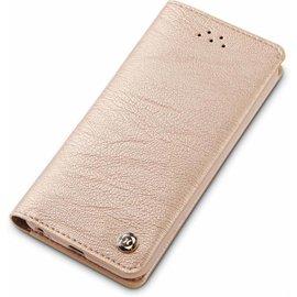 Xundd iPhone 5 / 5S / SE Zachte Hand Voelen En Handig Card Gentlemen Series Wallet Cover Hoesje Goud