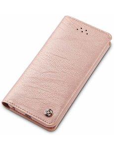 Xundd iPhone 5 / 5S / SE Zachte Hand Voelen En Handig Card Gentlemen Series Wallet Cover Hoesje Rose Goud