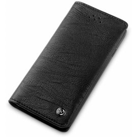 Xundd iPhone 5 / 5S / SE Zachte Hand Voelen En Handig Card Gentlemen Series Wallet Cover Hoesje Zwart