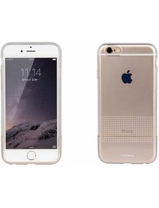 Nuoku iPhone 6 / 6S ( 4,7 inch ) TPU Transparant Back Case Cover Hoesje Goud + Screenprotector