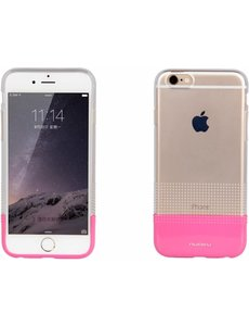 Nuoku iPhone 6 / 6S ( 4,7 inch ) TPU Transparant Back Case Cover Hoesje Pink + Screenprotector