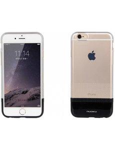 Nuoku iPhone 6 / 6S ( 4,7 inch ) TPU Transparant Back Case Cover Zwart + Screenprotector