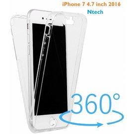 Nech iPhone 8 / iPhone 7 ( 4.7 inch ) Dual TPU voor  en Achterkant 2 in 1 Hoesje Case Crystal Clear