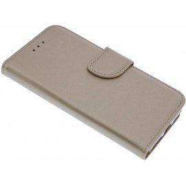 Merkloos iPhone SE / 5 / 5S Portmeonnee Hoesje booktype Case Champagne Goud