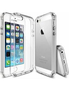 OU case iPhone SE / 5 / 5S Ultra Dun Ou Case Transparant Silicone Cover Hoesje