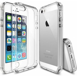 Merkloos iPhone SE / 5 / 5S Ultra Dun Ou Case Transparant Silicone Cover Hoesje