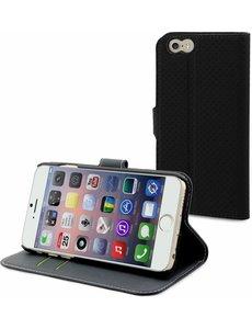Muvit Muvit iPhone 6+ (Plus) Wallet Case Met 3 Kaartsloten Zwart/Donker Grijs