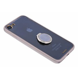 Xundd Xundd iPhone 8 / 7 Hard Transparant Back cover Hoesje Magnetic autohouder/ring houder+tempered Glass Goud