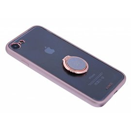 Xundd Xundd iPhone 8 / 7 Hard Transparant Back cover Hoesje Magnetic autohouder/ring houder+tempered Glass Rose Goud