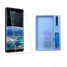 Merkloos Samsung Galaxy Note 9 UV liquid Curved Tempered Glass 9H full cover met UV lampje