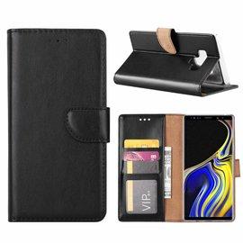 Merkloos Samsung Galaxy Note 9 Portmeonnee Hoesje / Book Style Case Zwart