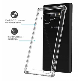 Ntech Ntech Samsung Galaxy Note 9 Transparent Anti Burst Hoesje / Shock Proof Crystal Clear TPU Case