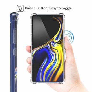 Merkloos Samsung Galaxy Note 9 Transparent Anti Burst Hoesje / Shock Proof Crystal Clear TPU Case