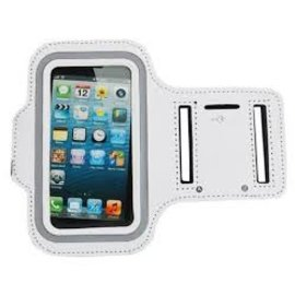 Merkloos Sport Armband voor Apple iPhone 5/5S Wit