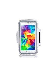 Merkloos Sport Armband voor Samsung Galaxy S5, iPhone 6 4,7 Wit